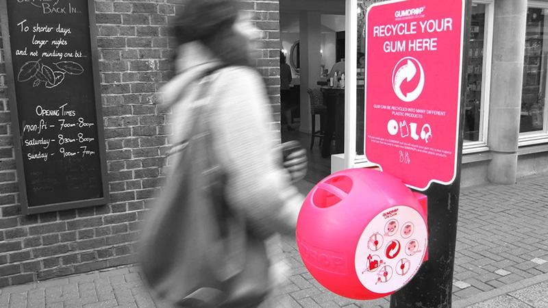 Cestino per chewing-gum a Londra